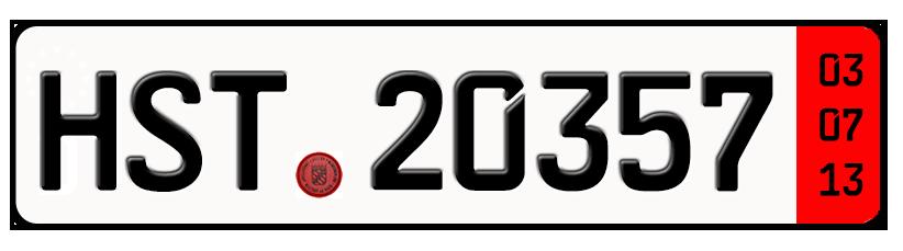 Ein Zollkennzeichen bzw. Ausfuhrkennzeichen.