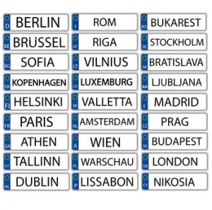 Nummernschilder EU